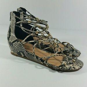 Aldo Snake Print Sandals Size 6.5